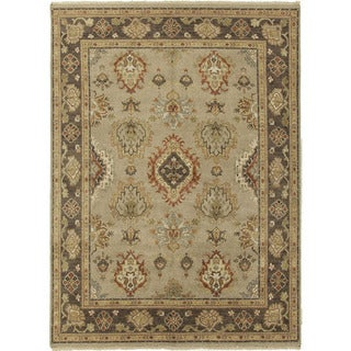 Hand-Knotted Oriental Pattern Grey/Brown (2x3) - LS04 Area Rug