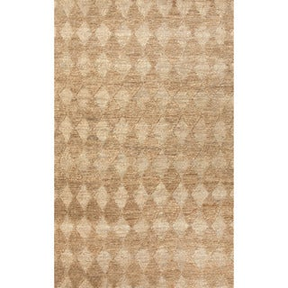 Naturals Geometric Pattern Brown/ Ivory Area Rug (4' x 6')