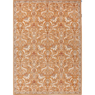Hand-tufted Oriental Pattern Orange/ Ivory Area Rug (8' x 10')