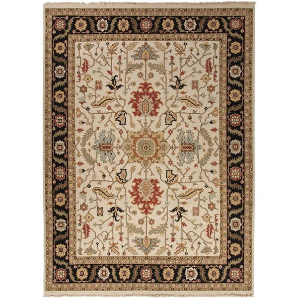 Hand-Knotted Oriental White Area Rug (8' X 10') - 8' x 10'