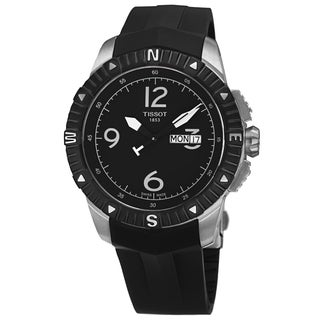 Tissot Men's T062.430.17.057.00 'T Navigator' Black Dial Black Rubber Strap DateDay Automatic Watch