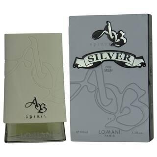 Lomani Ab Spirit Silver Men's 3.4-ounce Eau de Toilette Spray|https://ak1.ostkcdn.com/images/products/9789154/P16956829.jpg?impolicy=medium