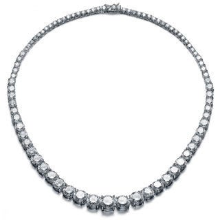 Collete Z Sterling Silver Cubic Zirconia Graduated Tennis Necklace