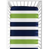 Sweet Jojo Designs Stripe Print Fitted Crib Sheet