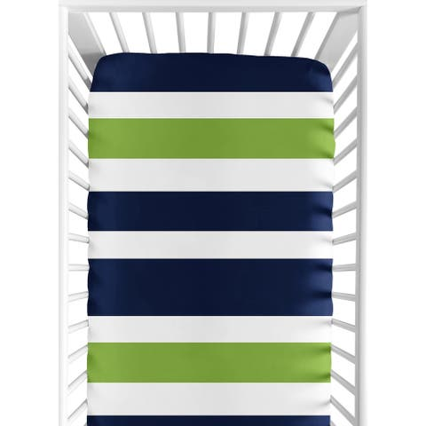 Sweet Jojo Designs Stripe Print Fitted Crib Sheet