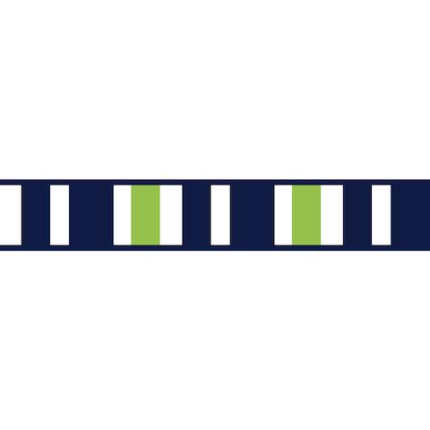 Sweet Jojo Designs Navy Blue/ Lime Green/ White Wall Paper Border