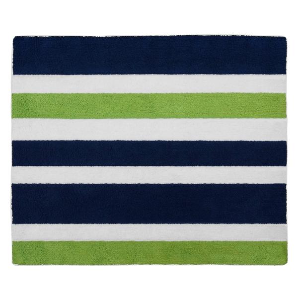 Green Navy Rug: Shop Sweet Jojo Designs Navy Blue/ Lime Green/ White