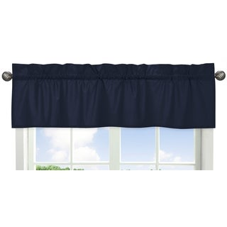 Sweet Jojo Designs Navy Blue 54-inch x 15-inch Window Treatment Curtain Valance for Space Galaxy Collection