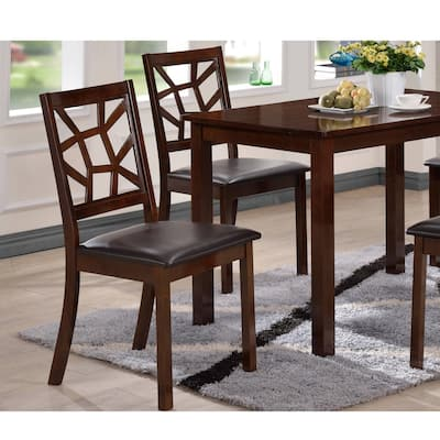 Contemporary Black Faux Leather Dining Chair 2-Piece Set by Baxton Studio