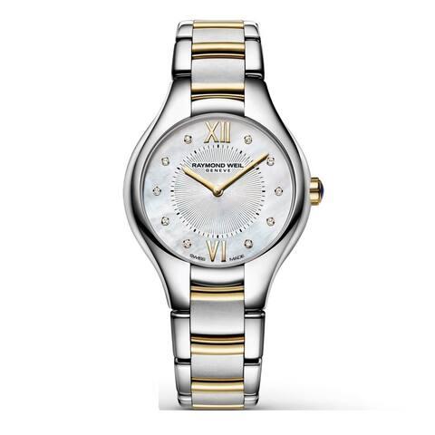 Raymond Weil Women's 5127-STP-00985 Noemia Mother of Pearl Diamond Stainless Steel Watch