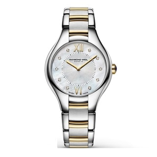"Raymond Weil Women's 5127-STP-00985 ""Noemia"" Mother of Pearl Diamond Stainless Steel Watch"