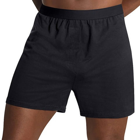 Hanes Men's 3X-5X TAGLESS Comfort Flex Waistband Knit Boxers (3-pack)