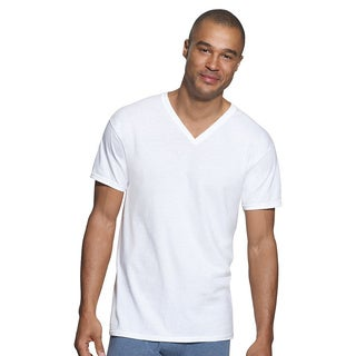 Hanes Classics Men's Traditional Fit ComfortSoft TAGLESS V-neck Undershirt 3-Pack