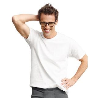 Hanes Classics Men's Tall Traditional ComfortSoft TAGLESS Crewneck Undershirt 4-Pack