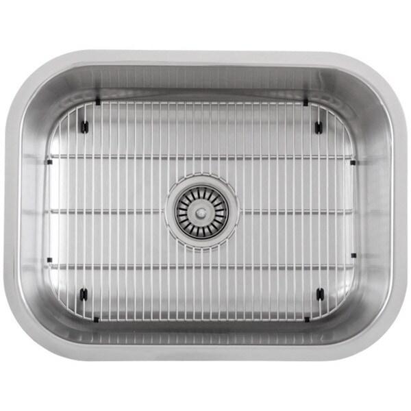 Ticor 23-inch Stainless Steel 16 Gauge Undermount Single Bowl Kitchen Sink