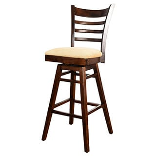 Upholstered Ladder Swivel Bar Stool