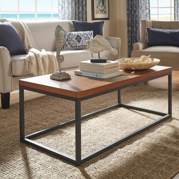 This Sleek And Rustic Industrial Table Would Look Great In: Dixon Rustic Oak Industrial Occasional Table By INSPIRE Q