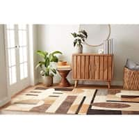Home Dynamix Tribeca Collection Contemporary Brown Area Rug - 7'10 X 10'6