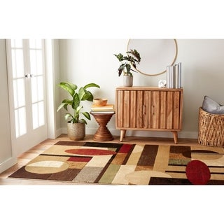 Home Dynamix Tribeca Collection Brown Machine Made Polypropylene Area Rug (7'10 x 10'6)