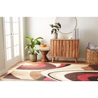 Home Dynamix Tribeca Collection Contemporary Brown-Red Area Rug (7'10 X 10'6) - 7'10 x 10'6