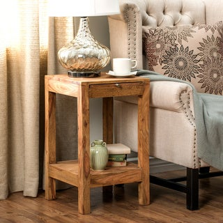 Natural Reclaimed Wood End Table