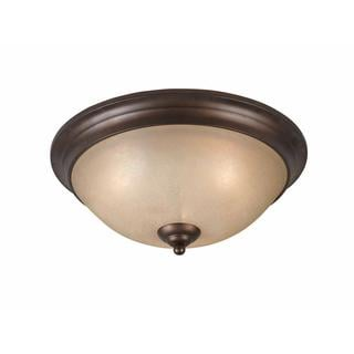 Athens Collection Lumenno International Transitional 3-light Bronze Flush Mount