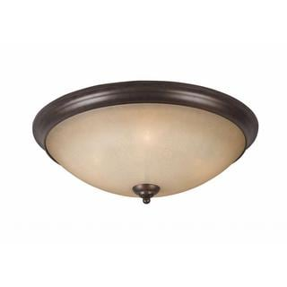 Athens Collection Lumenno International Transitional 4-light Bronze Flush Mount