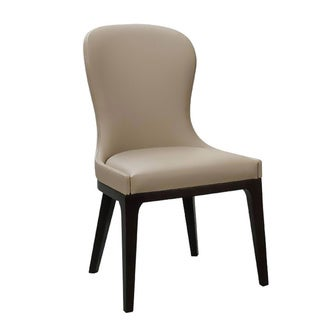 Aurelle Home Michelle Taupe Dining Chair (Set of 2)