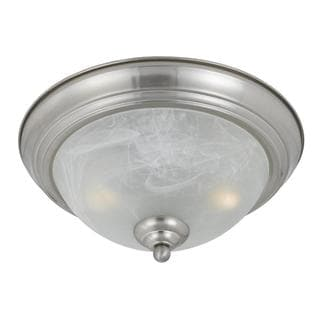 Value Collection 8001 Lumenno International l Transitional 2-light Satin Nickel Flush Mount