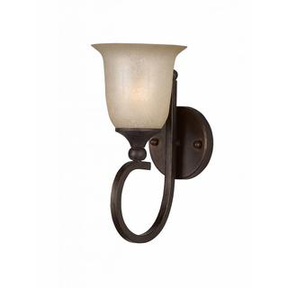 Athens Collection Lumenno International Transitional 1-light Bronze Wall Sconce Light