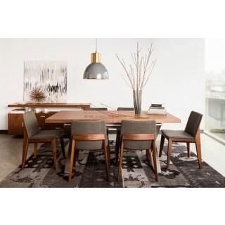 Aurelle Home Bella Walnut Wood Dining Chair (Set of 2)