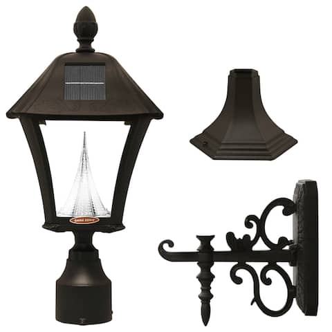 Gama Sonic GS-106FPW Baytown Solar LED Light, Multiple Mounting Options
