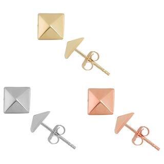 Gioelli 14k Gold 6mm High Polish Pyramid Stud Earrings|https://ak1.ostkcdn.com/images/products/9791913/P16960405.jpg?impolicy=medium