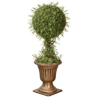 36-inch Mini Tea Leaf 1-ball Topiary in Urn