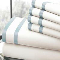 Amrapur Overseas 1000 Thread Count 6-piece Sheet Set With Double Satin Band