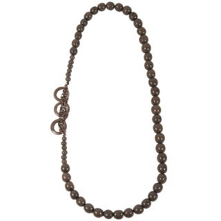 Soft Grey Circle Chain Seed Necklace (Ecuador)