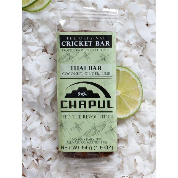 Shop Chapul Thai Coconut Ginger Lime Cricket Energy Bars