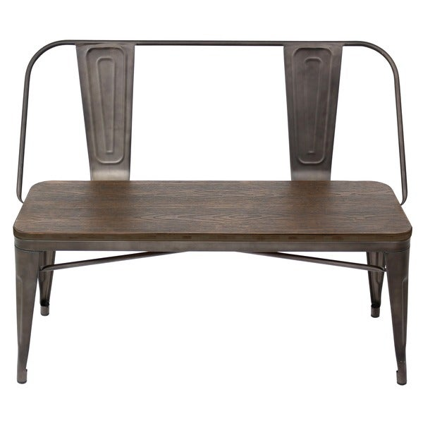 Exceptional Oregon Industrial Dining Bench   Free Shipping Today   Overstock.com    16960507