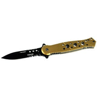 Defender 7.5-inch Brown Folding Spring Assisted Knife