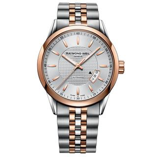 Raymond Weil Men's 2730-SP5-65021 'Freelancer' Automatic Silver Dial Two Tone Watch