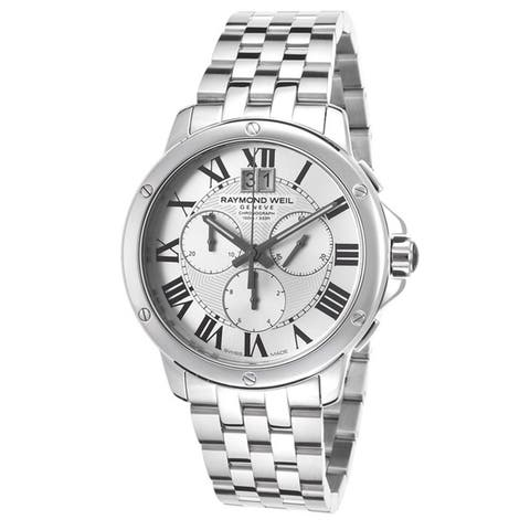 Raymond Weil Men's 4891-ST-00650 'Tango' Chronograph Silver Dial Stainless Steel Watch