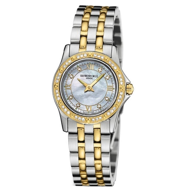Raymond Weil Women's 5790-SPS-00995 Tango Diamond Accented 18k Gold-Plated and Stainless Steel Wat (Raymond Weil Women's 5790-SPS-00995 Tango Watch)