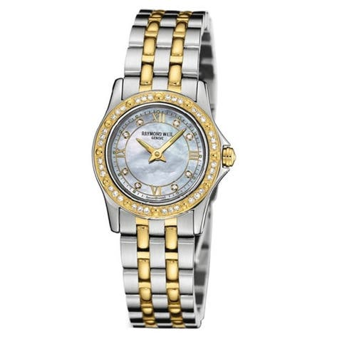 Raymond Weil Women's 5790-SPS-00995 Tango Diamond Accented 18k Gold-Plated and Stainless Steel Wat