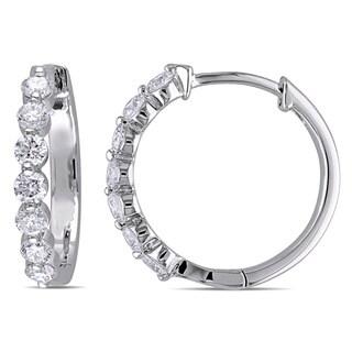Miadora 18k White Gold 1/2ct TDW Diamond Cuff Earrings (G-H, SI1-SI2)
