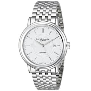 Raymond Weil Men's 2847-ST-30001 'Maestro' Analog Display Swiss Automatic Silver Watch|https://ak1.ostkcdn.com/images/products/9792174/P16960595.jpg?impolicy=medium
