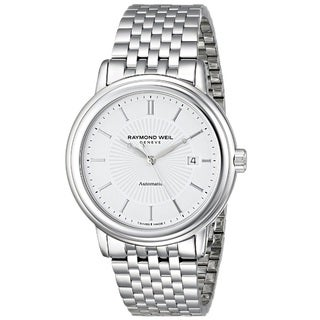 Raymond Weil Men's 'Maestro' Analog Display Swiss Automatic Silver Watch