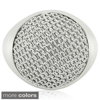 Sterling Plated Italian Round Mesh Ring