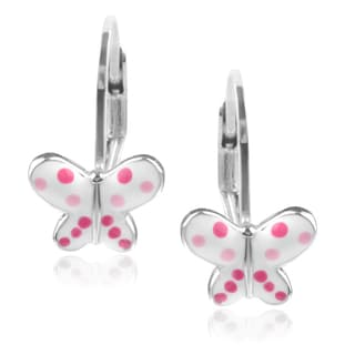 Journee Collection Sterling Silver Butterfly Earrings
