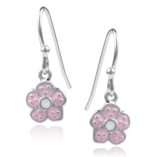 Journee Collection Sterling Silver Flower Dangle Earrings