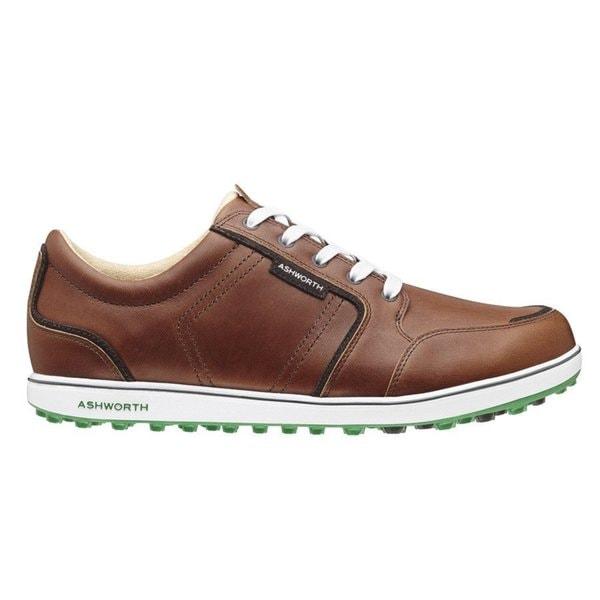 Ashworth Men's Cardiff ADC Spikeless Brown/Dark Brown/Fairway Golf Shoes